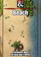 Beach Battlemap w/Fantasy Grounds support - TTRPG Map