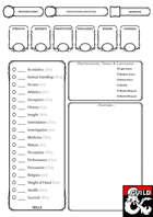 A5 Character Sheet D&D 5e