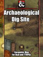 Dig Site Battlemap w/Fantasy Grounds support - TTRPG Map