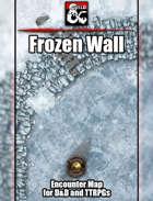 Frozen Wall Battlemap w/Fantasy Grounds support - TTRPG Map