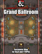 Grand Ballroom Battlemap w/Fantasy Grounds support - TTRPG Map