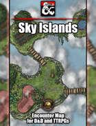 Sky (&Water) Islands Battlemap w/Fantasy Grounds support - TTRPG Map