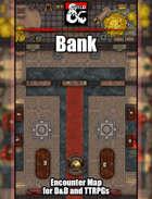 Bank  Battlemap w/Fantasy Grounds support - TTRPG Map
