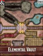 Elven Tower - Elemental Vault | 30x30 Stock Battlemap