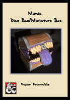 Mimic Box for Dice or Minatures