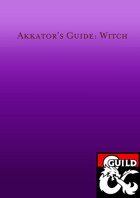 Akkator's Guide: Witch