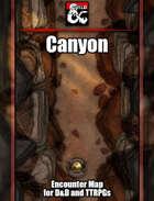 Canyon Battlemap w/Fantasy Grounds support - TTRPG Map