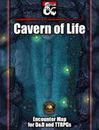 Cavern of Life Battlemap w/Fantasy Grounds support - TTRPG Map