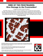 RF09: Rime of the Frostmaiden: Give Homage to the Frostmaiden!