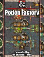 Potion Factory Battlemap w/Fantasy Grounds support - TTRPG Map