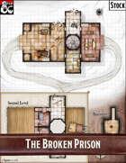 Elven Tower - Broken Prison | Stock Battlemap