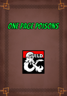 One Page Poisons