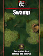 Swamp Battlemap w/Fantasy Grounds support - TTRPG Map