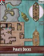 Elven Tower - Pirate Docks | 34x41 Stock Battlemap