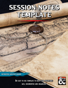 Session Notes Template