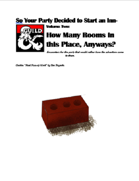 So your party decided to start an INN- Volume 2 - How Many Rooms