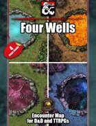 Four Wells Battlemap w/Fantasy Grounds support - TTRPG Map