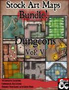 Stock Art Maps Bundle 12 - Dungeons Vol. V [BUNDLE]