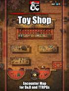 Toy Shop Battlemap w/Fantasy Grounds support - TTRPG Map