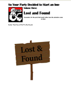 So your party decided to start an INN- Volume 3- Lost and Found