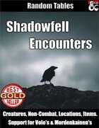 Shadowfell Encounters - Random Encounter Tables
