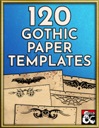 120 Gothic Paper, Letter, and Handout Templates - Hand Drawn Style