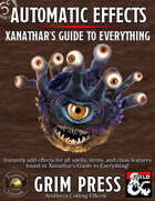 5E Automatic Effects - Xanathar's Guide to Everything (Fantasy Grounds)