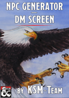 NPC Generator - DM Screen (for 5th edition)