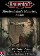Darklords & Domains: Mordenheim's Monster, Adam