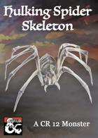 Hulking Spider Skeleton