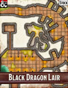 Elven Tower - Black Dragon Lair | 25x25 Stock Battlemap