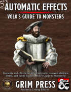 5E Automatic Effects - Volo's Guide to Monsters (Fantasy Grounds)