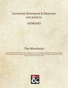 AD&D5E: The Minotaur