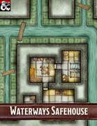 Elven Tower - Waterways Safehouse | 20x20 Stock Battlemap