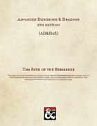 AD&D5E: The Path of the Berserker