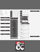 D&D 5e Landscape Character, Spell, and Companion Sheets
