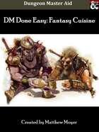 Detailed Fantasy Cuisine w/ FREE Excel Menu Maker