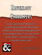 Six Ravenloft Pre-generated Characters with Fantasy Grounds Conversions