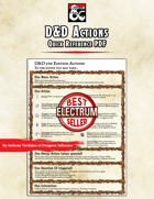 DnD Actions - Quick Reference PDF