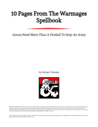 10 Pages From The Warmages Spellbook