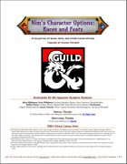 Nim's Character Options - Races and Feats
