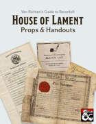 Van Richten's Guide to Ravenloft: House of Lament Props & Handouts