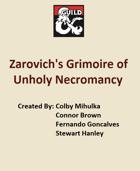 5e. Zarovich's Grimoire of Unholy Necromancy