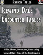 Icewind Dale Encounter Tables - Random Encounters (Fantasy Grounds)