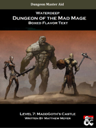 DotMM: Boxed Flavor Text and Combat Tracker - Level 7: Maddgoth's Castle (Waterdeep: Dungeon of the Mad Mage)