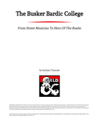 The Busker Bardic College