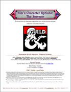 Nim's Character Options - The Sorcerer