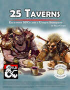 25 Taverns and Quests (Fantasy Grounds)