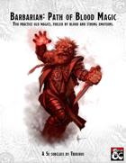 Barbarian - Path of Blood Magic