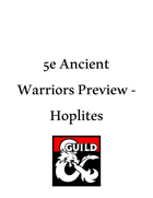 Ancient Warriors Preview - Hoplites of Greece
